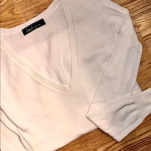 COACH😍 Deep V-Neck Sweater
